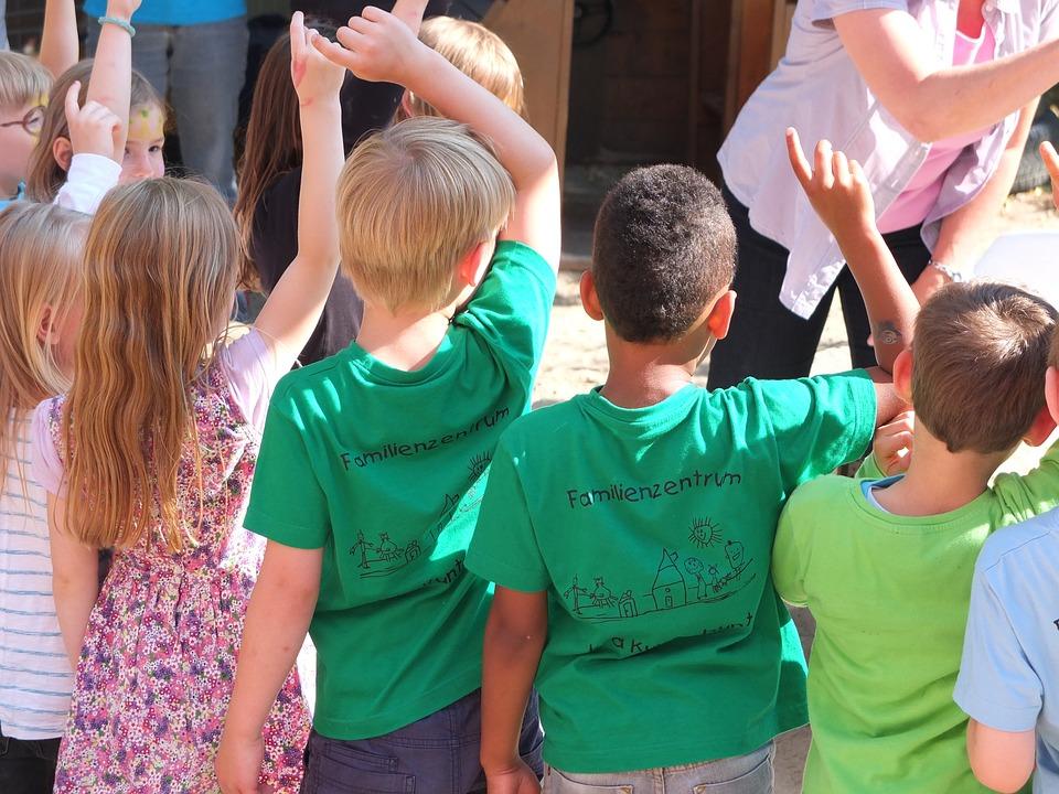 small kids at preschool